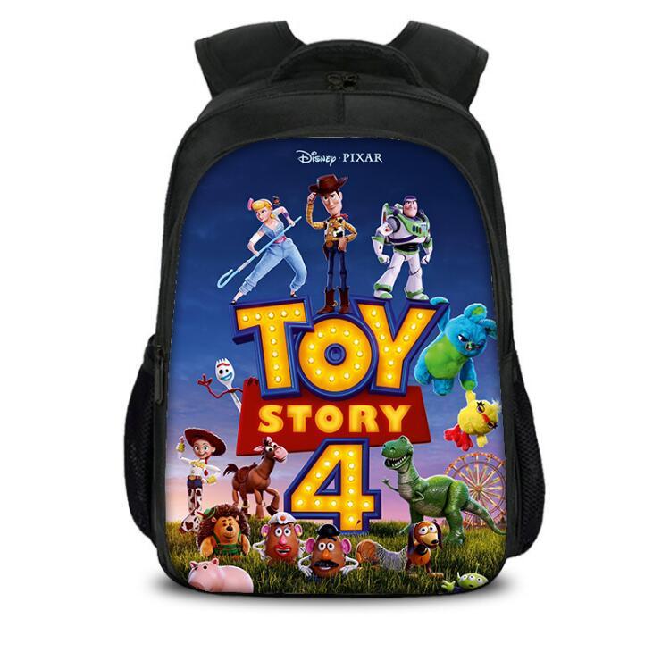 Disney Schoolbag for primary school students Boys Girls Cartoon Toy Story 4 school Bookbag Double layer large capacity schoolbag
