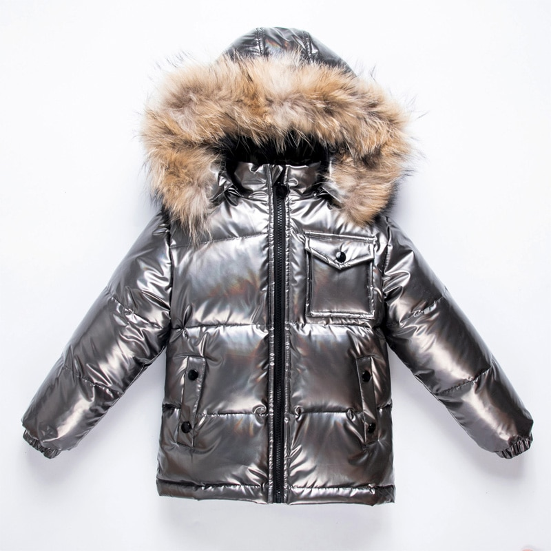 Winter Warm Baby Boy Snow Jackets Hooded Fur Girls Down Coat Outdoor Warm Children Parkas Windproof Kids Windbreaker Clothes enlarge