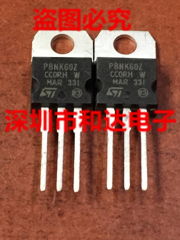 5pcs P8NK60Z STP8NK60Z TO-220