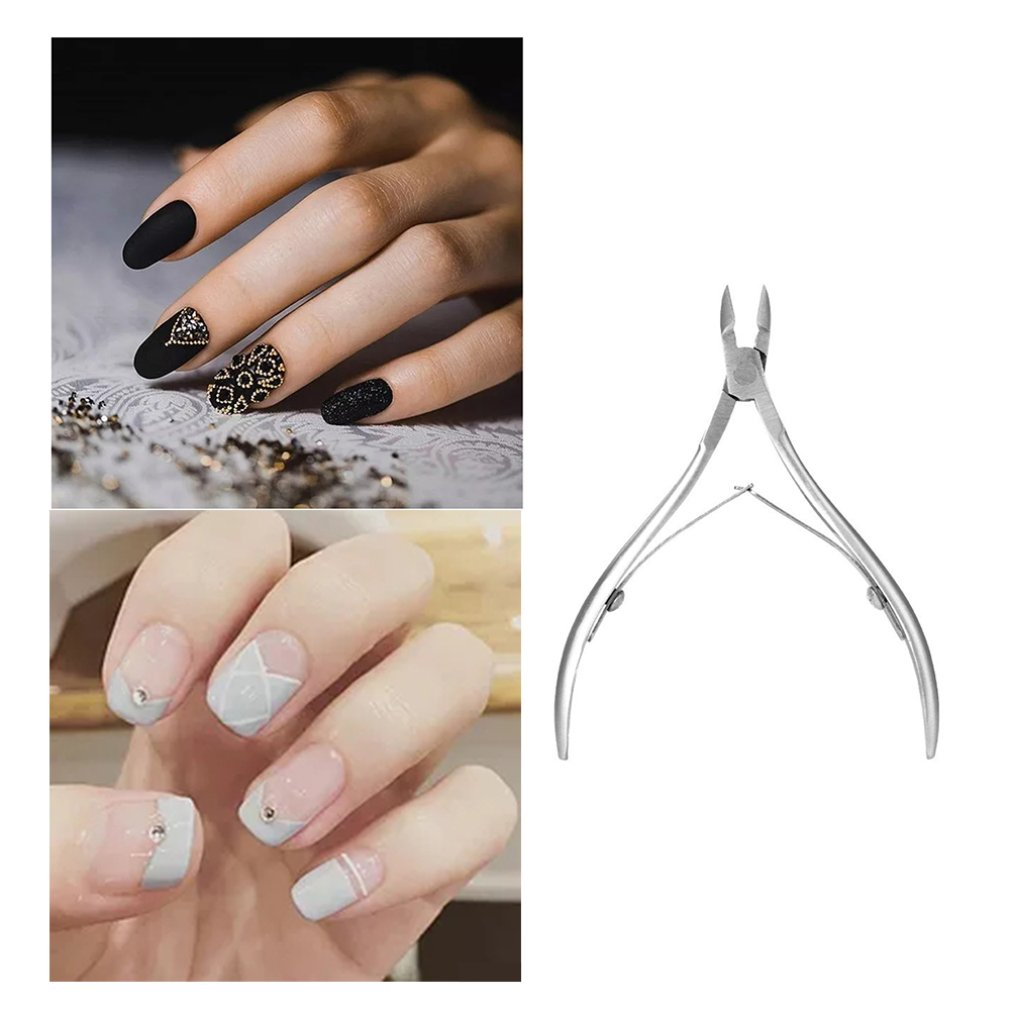 Professional Fingernail Trimmer Toenail Cuticle Nipper Stainless Steel Nail Clipper Scissors Manicure Tool