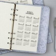 2021 planer teiler monat A5 A6 Lose Blatt Notebook Kalender Perfekt für Die Organisation & Planung