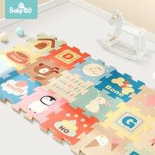 Детский игровой коврик-пазл BabyGo, 9 шт., XPE, водонепроницаемый, 82*82*2 см, толстый, детский коврик для ползания, для гостиной, для занятий спортом