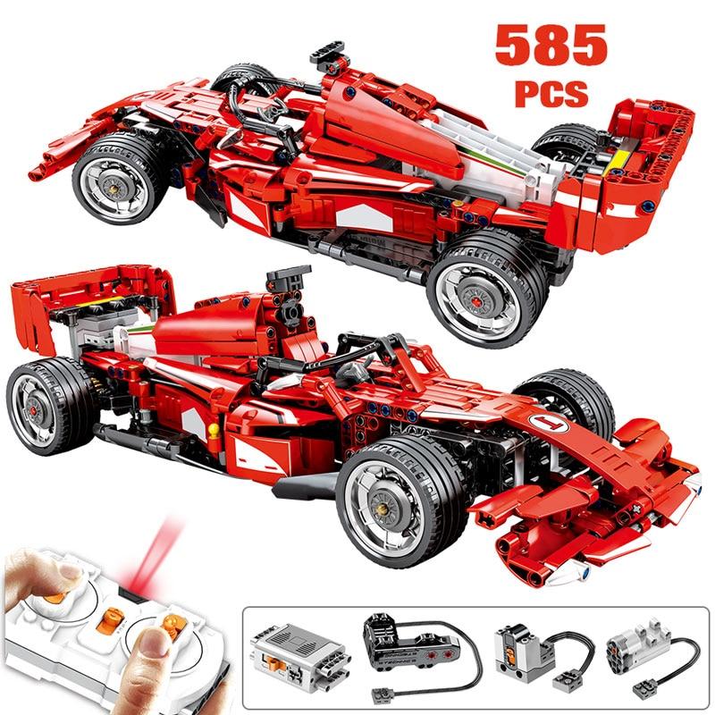 SEMBO 585 Uds. Creador de ciudades, mando a distancia, bloques de construcción de automóviles, técnica RC F1, modelo de vehículo, modelo BricksToys para niños