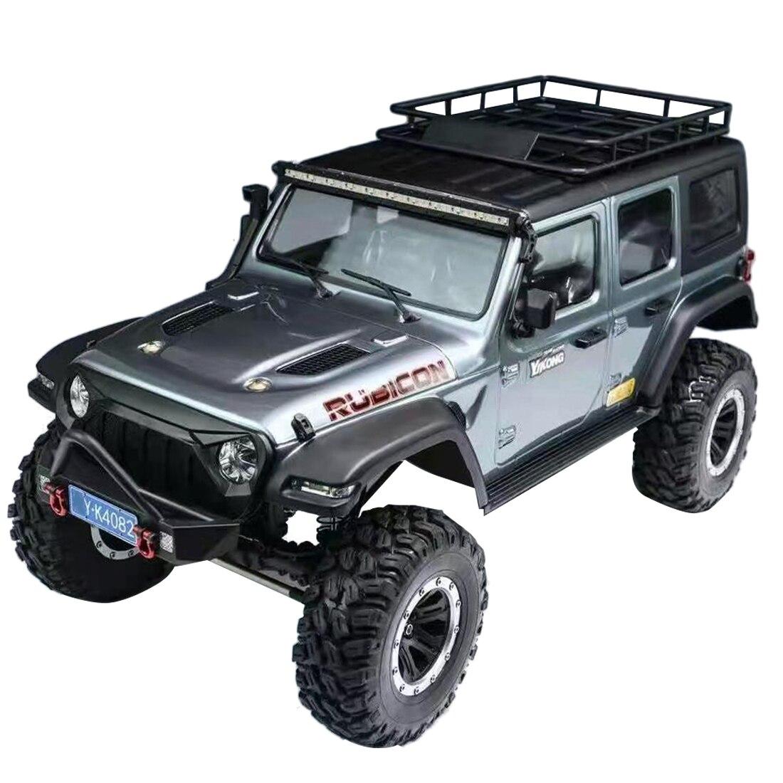 YK 4082 1/8 2.4G 4WD 6CH الكهربائية محاكاة RC سيارة الزاحف سيارة للطرق الوعرة لعبة مجسمة ل 14 +-gray