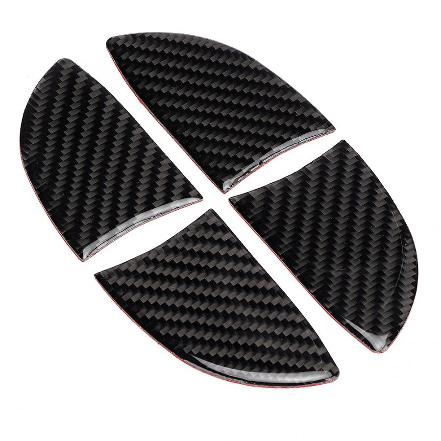 4 pces porta interior tigela de fibra de carbono guarnição interior apto para lexus nx 200 200t 300h 2014-2019 bacia interior capa acessórios do carro