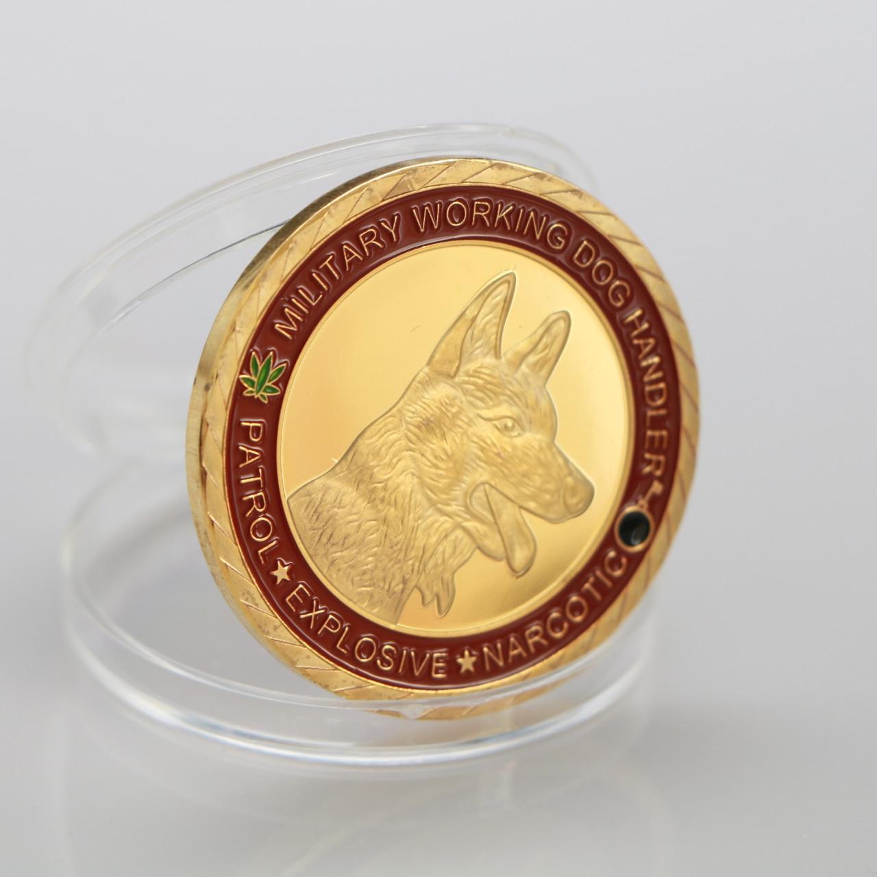 Moneda conmemorativa Dog K9 dedicada a la lealtad, medalla de Honor para perro policía, colección de monedas chapada en oro, guardianes de la noche