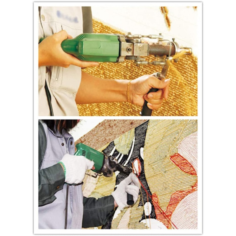 Electric Rug Tufting Machine Wall Tapestries Hand Tufting Gun With Cut And Loop 2400RPM 220V Cut Pile And Loop Pile EU Plug enlarge