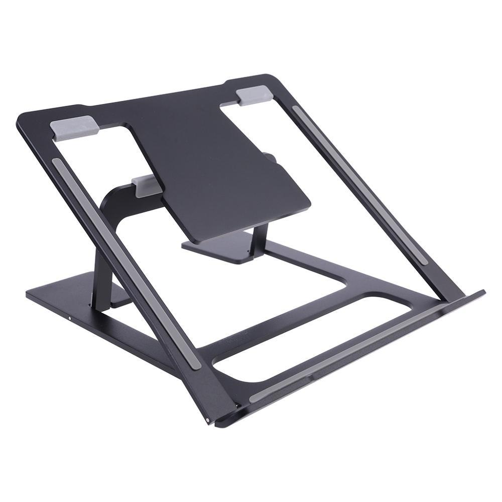 6 ângulo ajustável portátil suporte portátil ventilado ergonômico portátil notebook riser anti-deslizamento montagem em liga de alumínio para desktop macbook