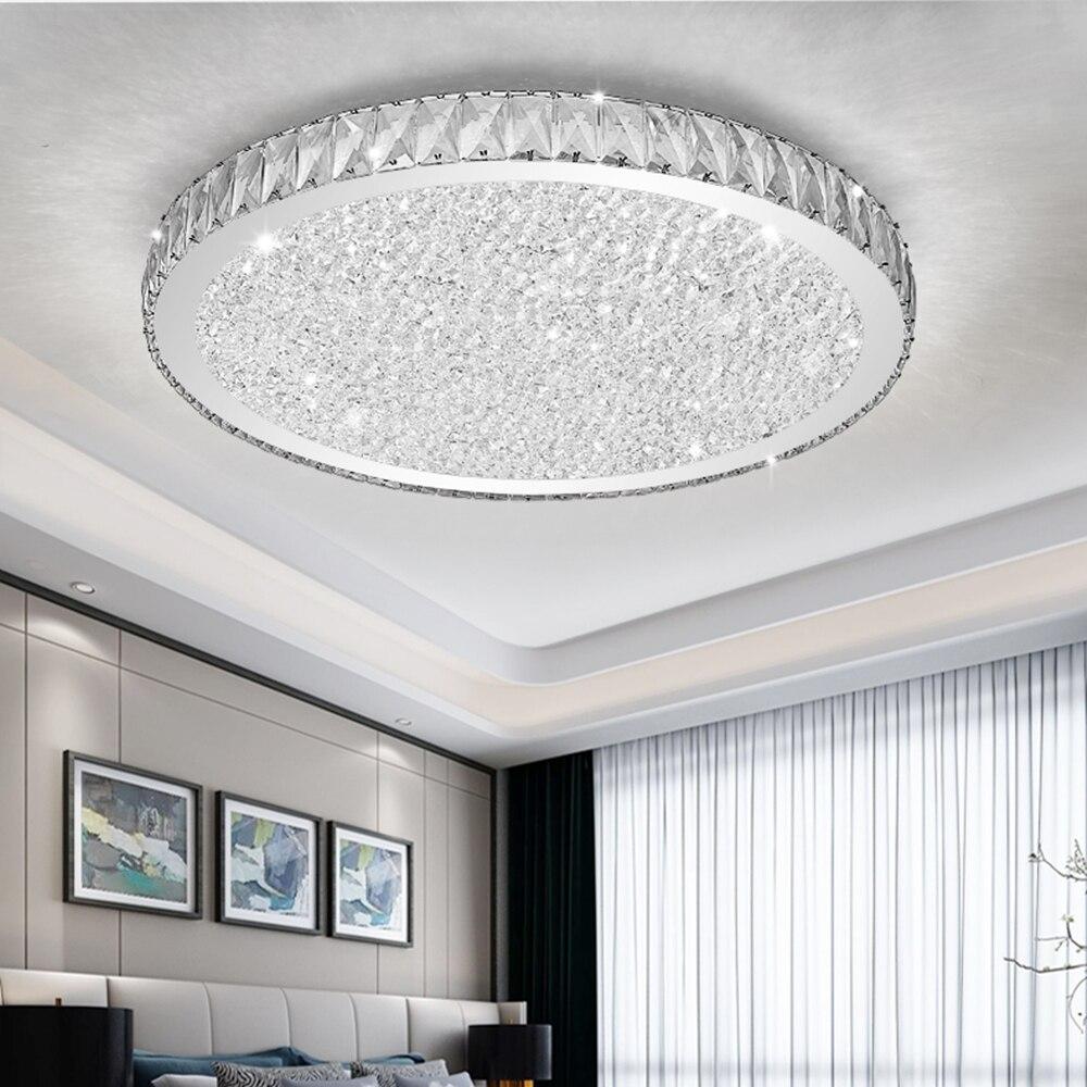 فاخر LED معلقة أضواء مع كريستال عاكس الضوء لغرفة المعيشة الحديثة العنبر/واضح اللوستات يعتم بهو معلقة مصباح
