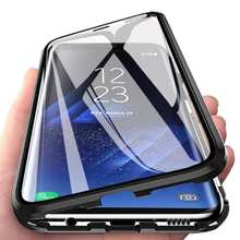 Магнитный металлический двухсторонний стеклянный чехол для Xiaomi Redmi 11 10T 9T Pro POCO M3 X3 NFC F1 Note 9 8T 8 7 Pro 9A 8A K20
