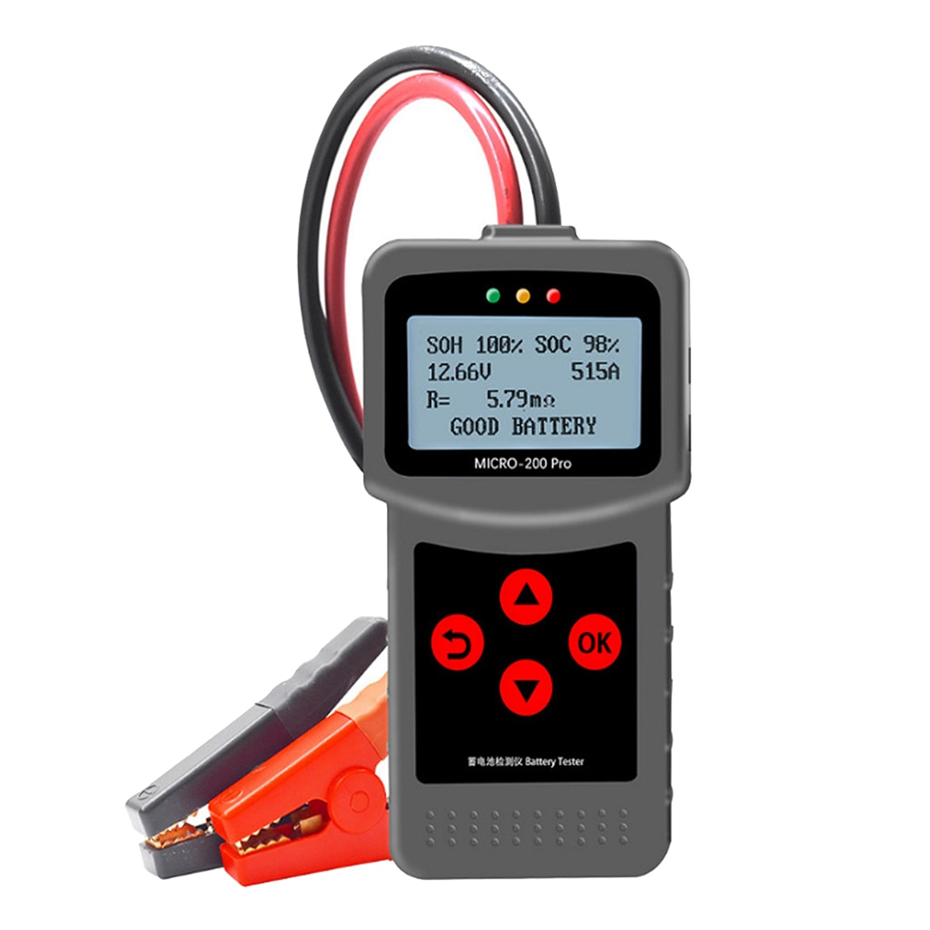 Car Battery Tester 40-2000CCA 3-220AH Battery Tools For Car/Motorcycle Quick Cranking Charging Starting Diagnostic Repair Tool