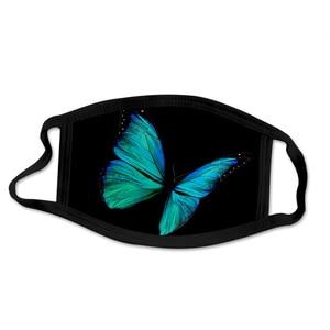 butterfly  Scarfs Washable Reusable Cloth Cotton Inside Mondmasker Mascara Facial Scarf mascherine Halloween Cosplay Mask