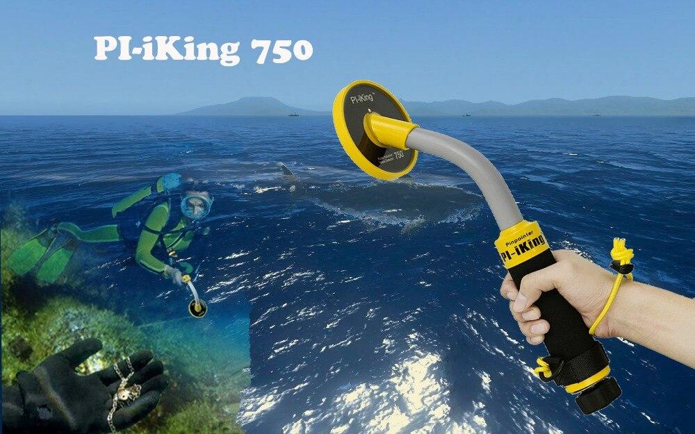 Pi-Iking 750 30 متر استهداف مؤشر نبض التعريفي PI تحت الماء للكشف عن المعادن مقاوم للماء مكتشف المعادن