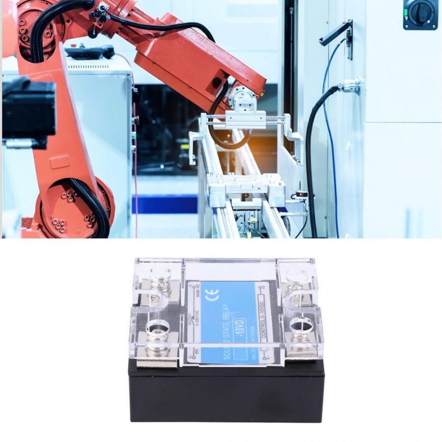 Relé monofásico de estado sólido con Control optoacoplador de alto rendimiento 0-10VDC carga 0-250VAC