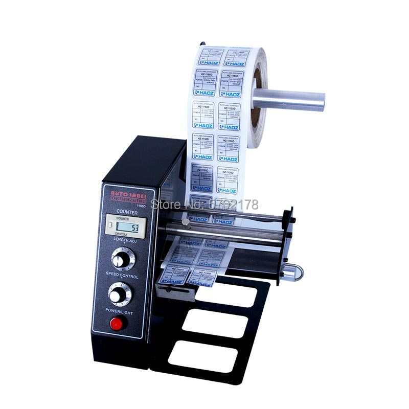 Auto Label Dispenser Device Automatic Sticker Separating Machine AL-1150D NEW Digital Control 4-140mm Label stripping machine enlarge
