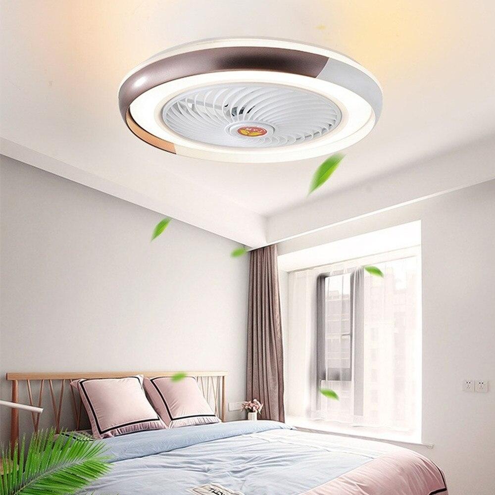 الشمال الحديثة مروحة سقف ذكي مع تطبيق بلوتوث ، مصباح التحكم عن بعد ، المدمج في الديكور الداخلي مصباح ، 50 سنتيمتر
