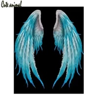 5d diamond painting white angel wings feathers diamond embroidery diy diamond mosaic sale cross stitch full drill square 2021