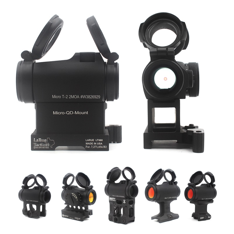 arisaka offset optic mount for red dot sights aimpoint micro t1 t2 h1 h2 trijicon rmr sro sig romeo 5 holosun hs403 hs503 hs515 Aimpoint T2 Micro Red Dot Perfect Replica Sight w Larue Mount Hunting 20mm Rail Rifle Scope Airsoft Telescope Finder