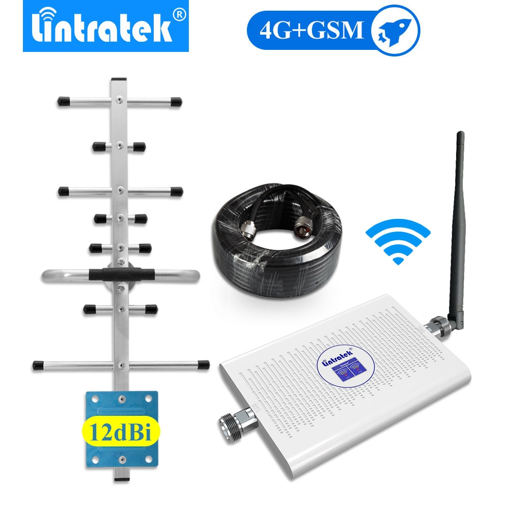Lintratek-amplificador DE señal móvil 4g lte, 1800mhz, gsm, 900mhz, banda dual, 2g,...