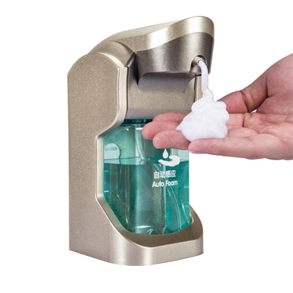 Dispensador de jabón automático de 480ML dispensadores de jabón de espuma lavado a mano inducción inteligente sin contacto cocina baño montado en la pared