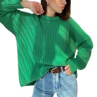 oversized sweater women solid long sleeve loose autumn winter thickening pullover female green knitted sweaters %d1%81%d0%b2%d0%b8%d1%82%d0%b5%d1%80 %d0%b6%d0%b5%d0%bd%d1%81%d0%ba%d0%b8%d0%b9