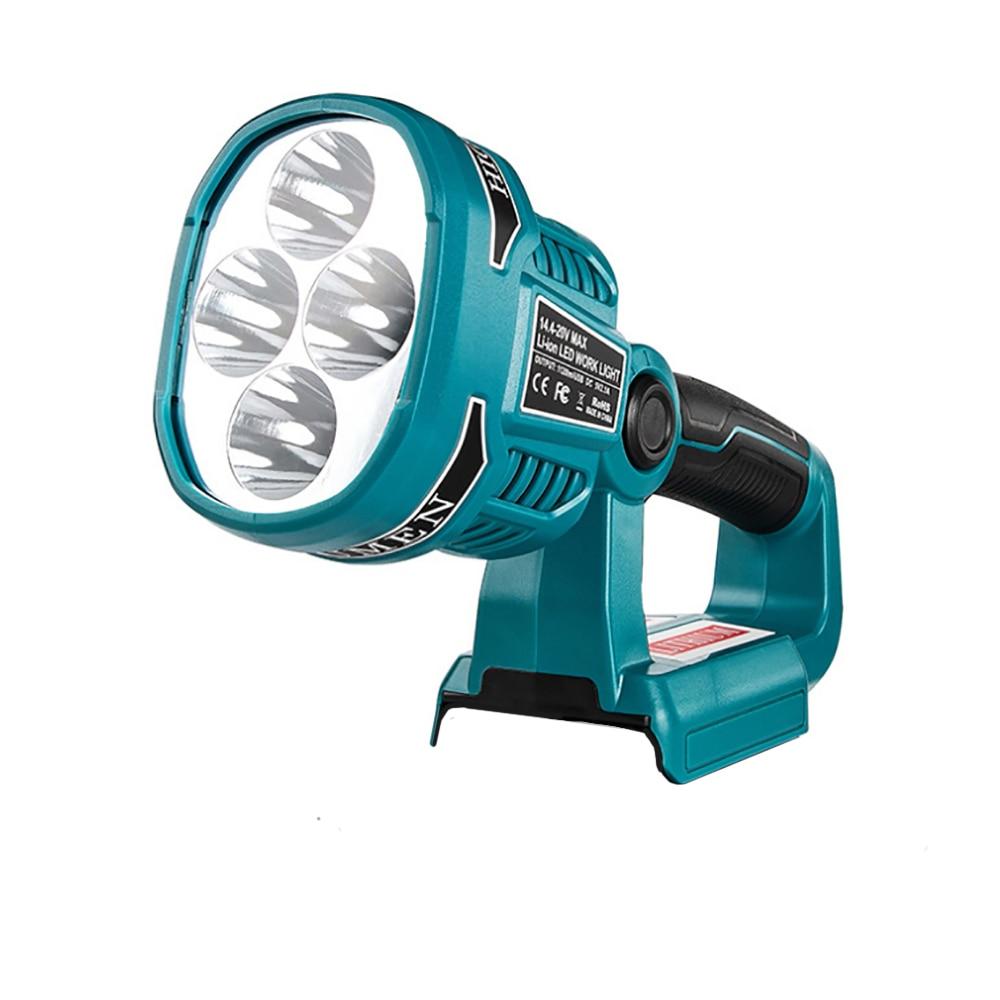 المحمولة LED تحذير بقعة ضوء العمل مصباح يدوي الشعلة لماكيتا Bosch 14.4 فولت 18 فولت بطارية ليثيوم أيون BL1830 BL1430 BAT618 BAT614