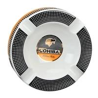 cohiba big ceramic ashtray home table portable cigar ashtray rest outdoor ash tray 4 holder cigar cigarette ashtrays