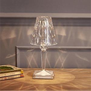 Modern Led Table Lamp Nordic Living Room Decorate Art Desk Light Sensor Bar Table Light Decor Restaurant Romantic Light Fixture