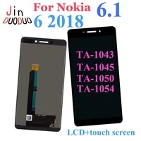 5 5 for nokia 6 1 ta 1043 ta 1045 ta 1050 ta 1054 lcd display touch screen digitizer assembly for nokia 6 2018