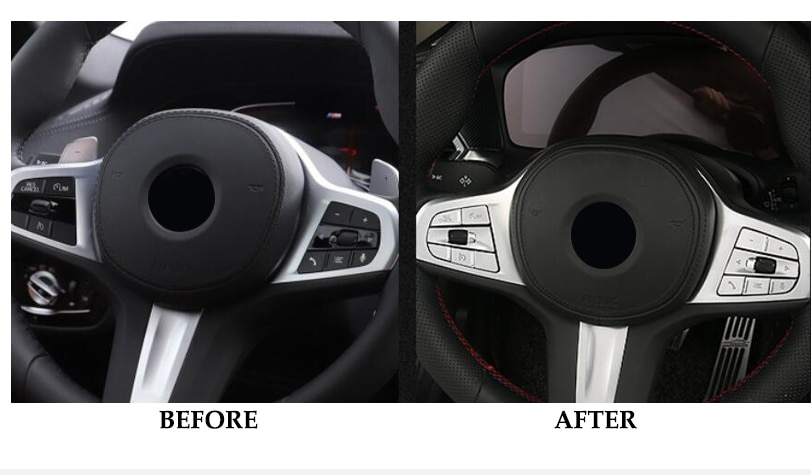 Steering Wheel Button Switch Trim Cover Sticker For BMW X3 X4 2021 Decoration Car Accessories Sticker enlarge