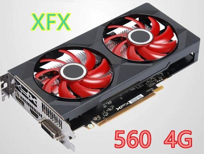 Б/у XFX RX 560 4 ГБ GDDR5 видеокарты для AMD RX 500 серии VGA видеокарты RX560 4 Гб RX560 RX564 4G HDMI DVI 7000 МГц PCI 3,0