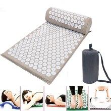 Tapis de Yoga masseur coussin avec ensemble doreillers acupression soulager le Stress dos douleur du corps tapis de pointe Acupuncture Massage sac gratuit