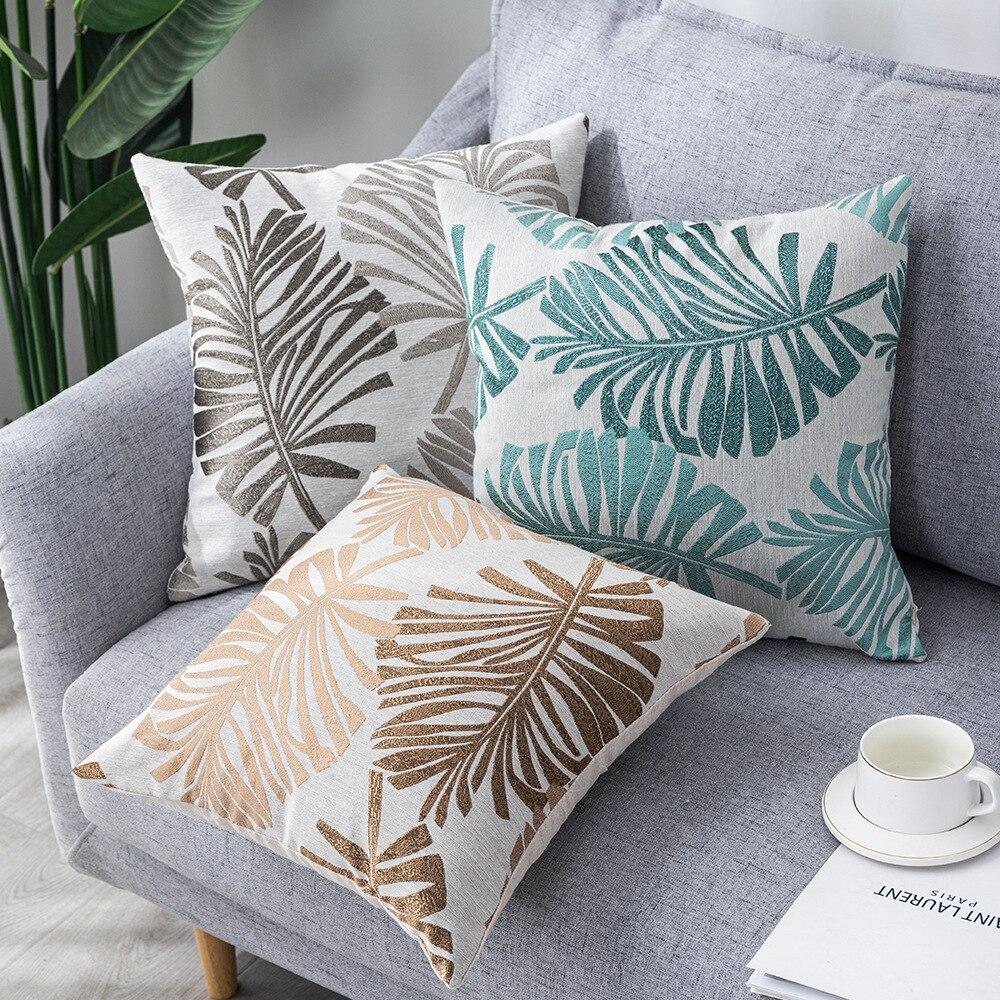 Льняной чехол для подушки с растительным рисунком 45x45 см, декоративный чехол для подушки, чехол для дивана в стиле Ins, чехол для подушки, укра... чехол