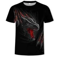 2020 mens tshirt fashion top horror shirt 3d printed tshirts with flame dragon pattern summer short sleeve for streetwearmale
