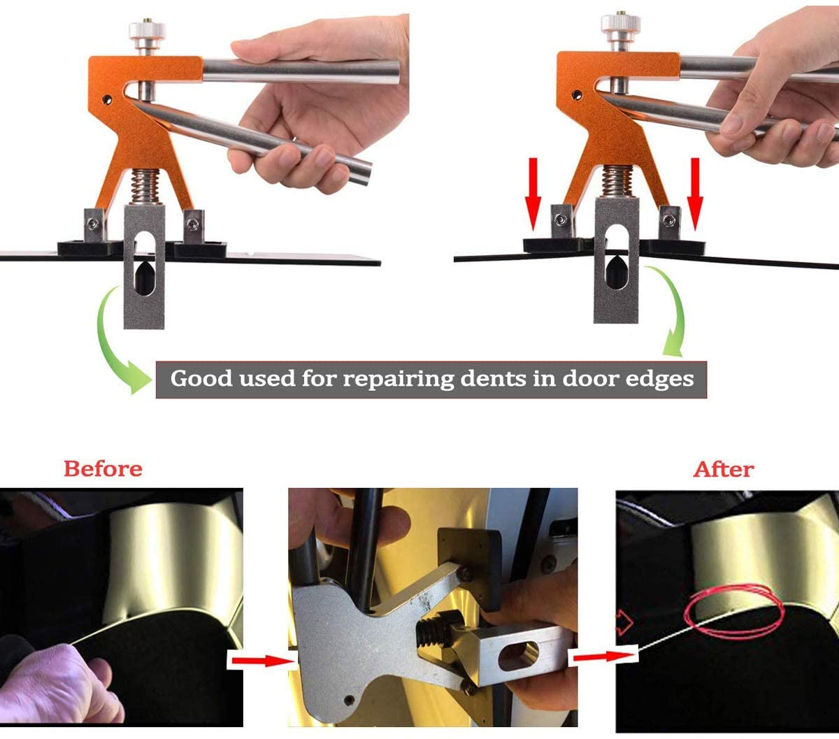 1Paintless Dent Repair Lifter Paintless Dent Repair Tools Kits for Car Door Dings Repair Removal Tools  - buy with discount