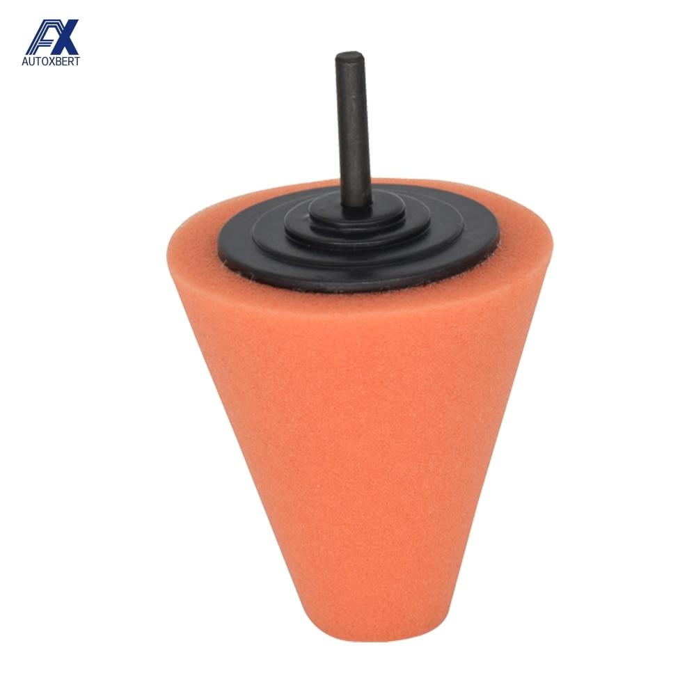Car wheel Polishing handle polishing waxing sponge cone metal foam pad Car repair Car Accessories Car cleaning Tools
