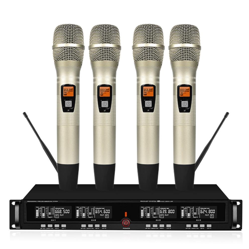 profesyonel uhf kablosuz mikrofon 2 yaka mikrofonu 2 el mikrofonu sahne performansi mikrofon kablosuz