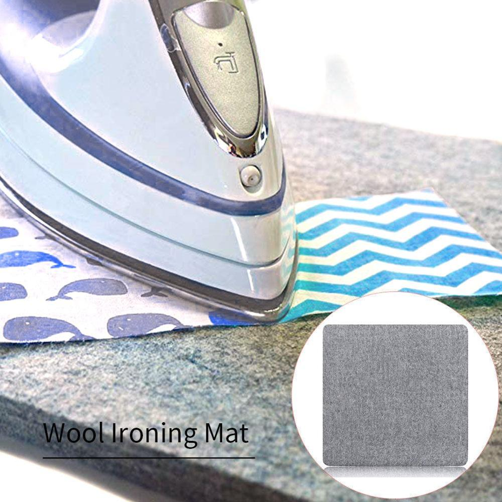 Tapete de engomar portátil pressionando esteira de feltro de lã tábua de engomar fácil almofada de engomar ferramenta de costura de mão para precisão estofando esteira de costura