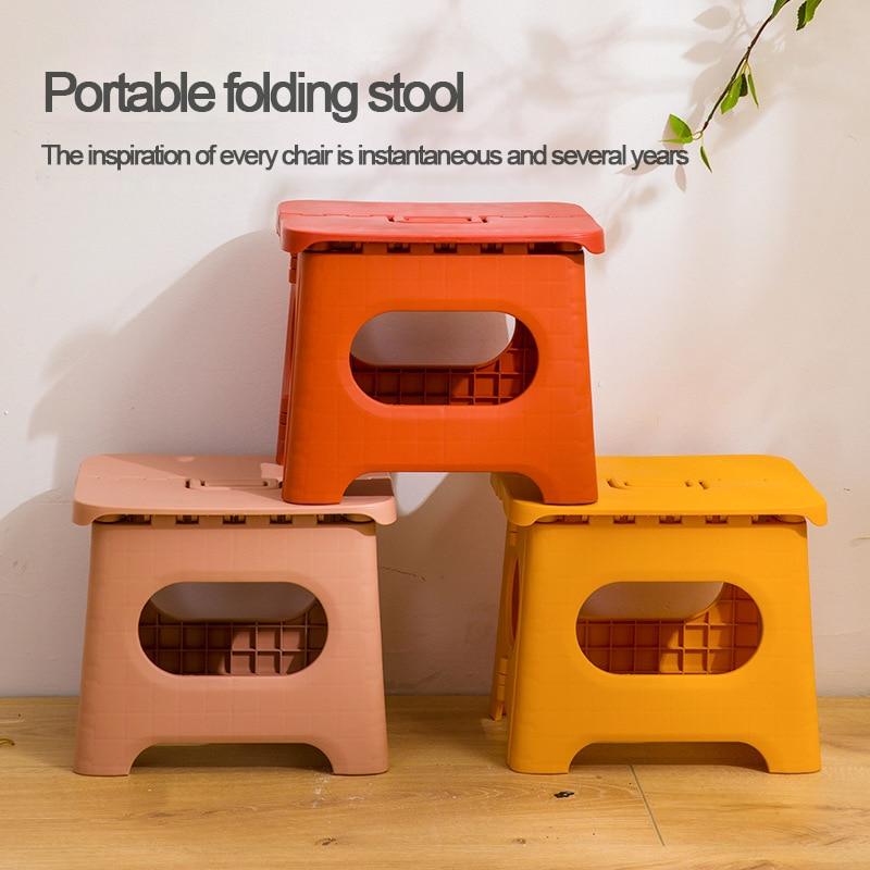 기차 Mazar 접는 의자 휴대용 플라스틱 유치원 의자 야외 성인 홈 선물 작은 벤치 #55