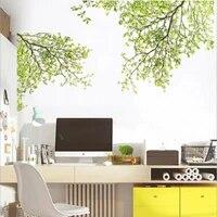 Autocollants muraux amovibles  nouvelle mode  Art pour enfants  branche darbre vert  decor Mural pour la maison