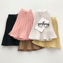 Solid Color Ins Short Skirt 2021 Summer New Product Women's Clothes Korean Style Anti-Aging Pleated