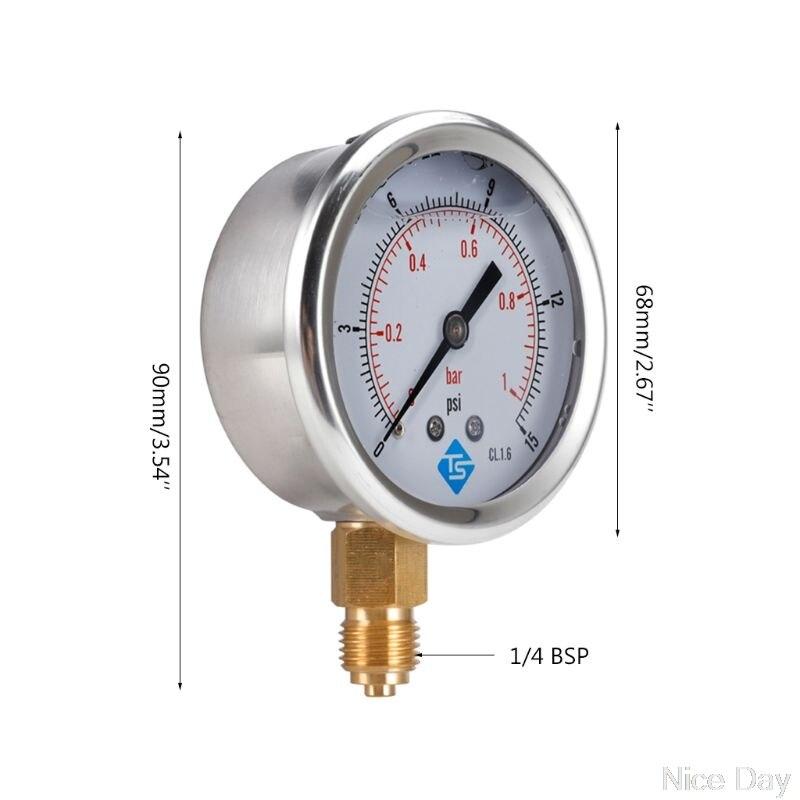 Calibradores compuestos de vacío de presión llena de glicerina 68mm DIAL VAC a 10000 PSI BTM GXMD