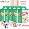 Fujifilm – film blanc large 3 pouces 60 80 100 feuilles de papier Photo pour appareil Photo instantané mini 8 9 7s 25 50s 90