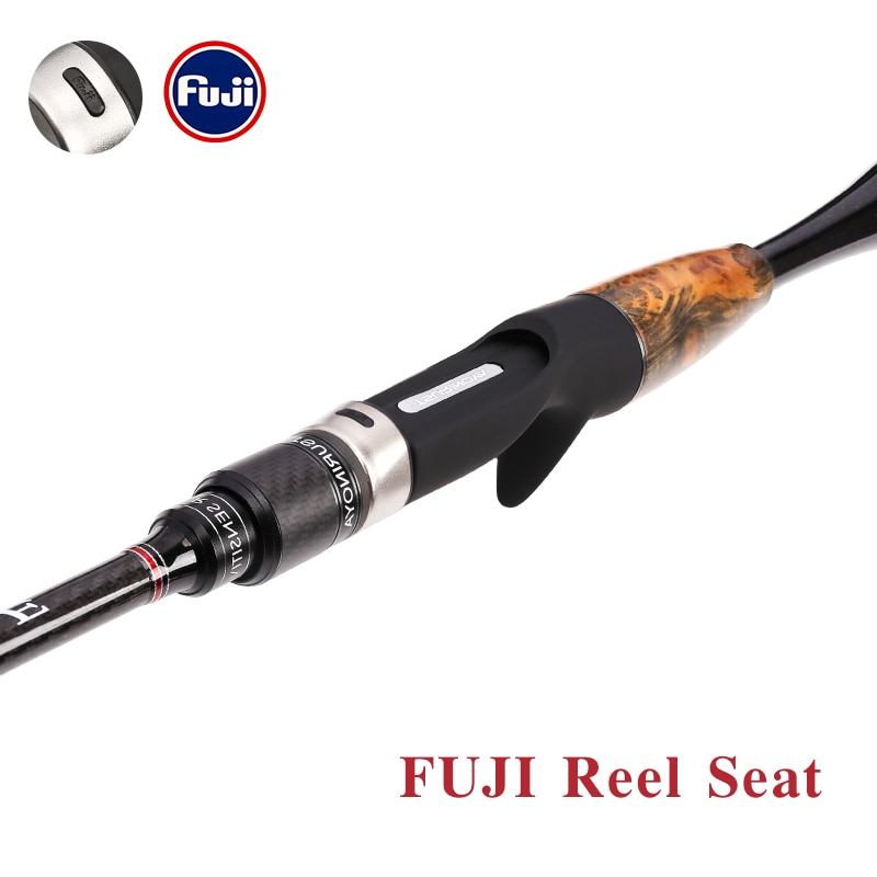 TSURINOYA Fishing Rod AGILE X- Wrapping FUJI Accessories 1.96m 2.01m L/ML Ultralight Carbon Fiber Grip Spinning Casting Rod enlarge