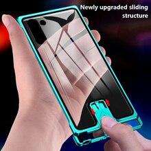 Fond de panier en verre Coque de téléphone sans bord en métal pour Samsung Galaxy S20UItra S10 S20 Plus Note 9 10 10Plus Coque de protection