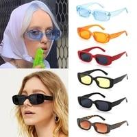 retro small rectangle uv 400 protection square frame women sunglasses eyeglasses eyewear sun glasses