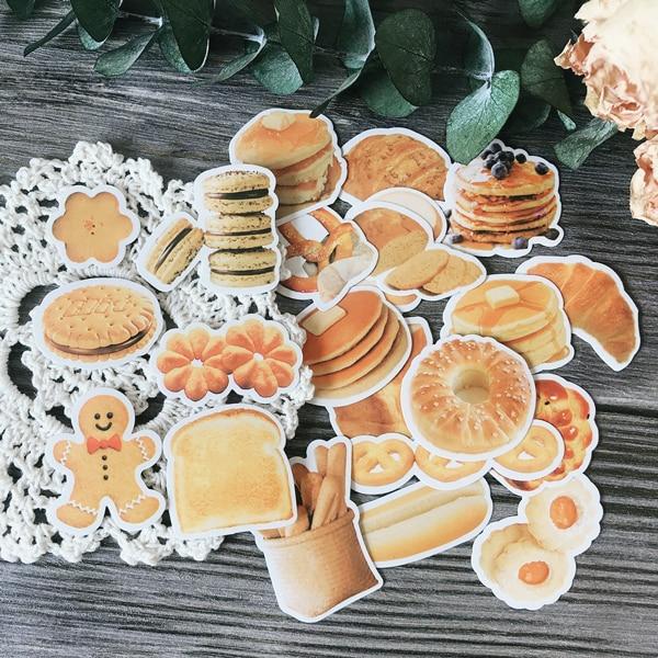 24Pcs/Pack Vintage Breakfast Cookies Sticker DIY Craft Scrapbooking Album Junk Journal Planner Decorative Stickers