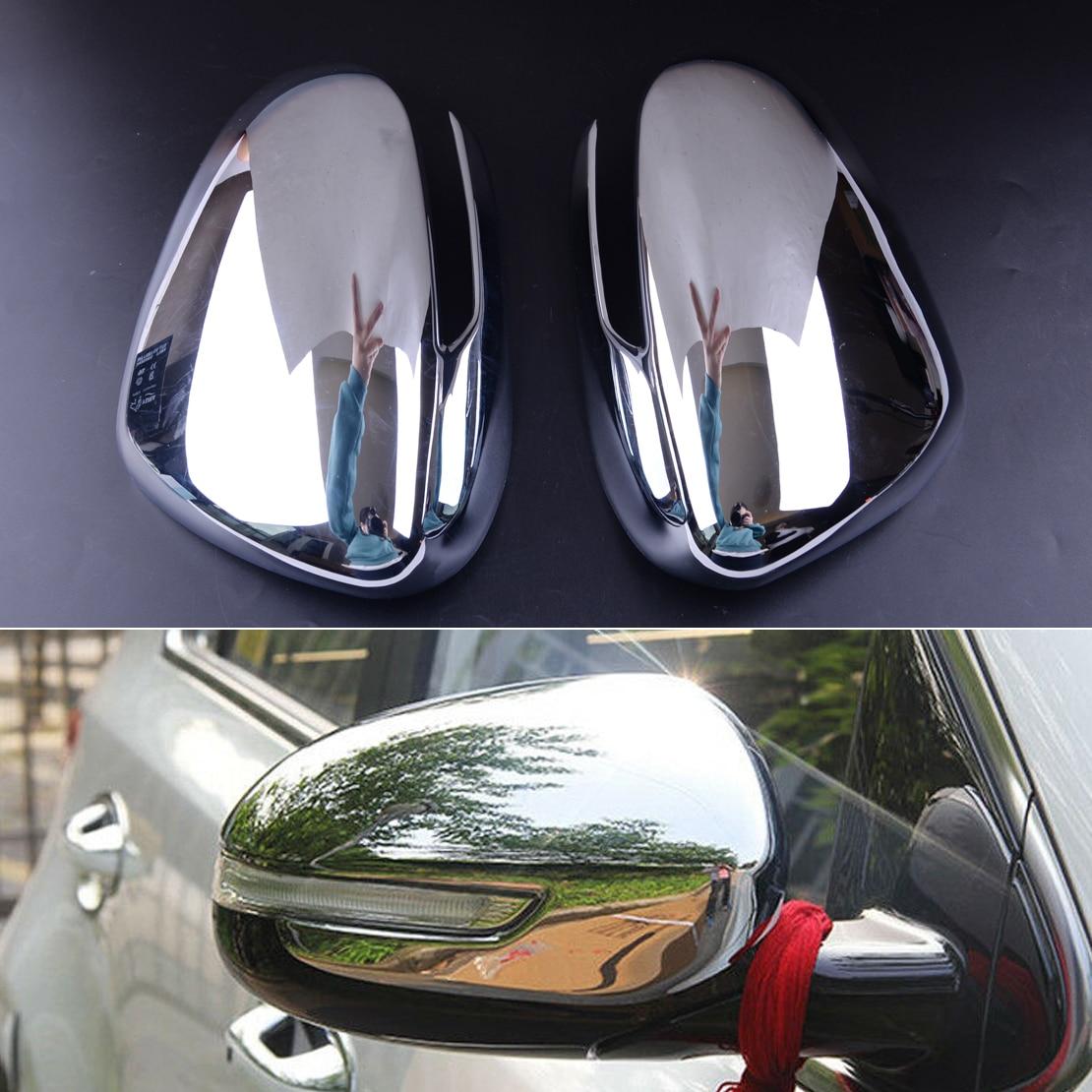 Plastique 2 pièces argent voiture porte côté aile rétroviseur couverture moulure de garnissage pour Kia Sportage QL 2017 2018 2019 2020