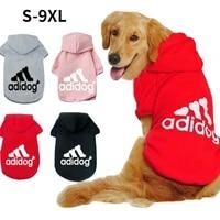 winter pet dog hoodie clothes for medium large dogsfleece warm hooded jacket sweatshirtlabrador french bulldog coat clothing