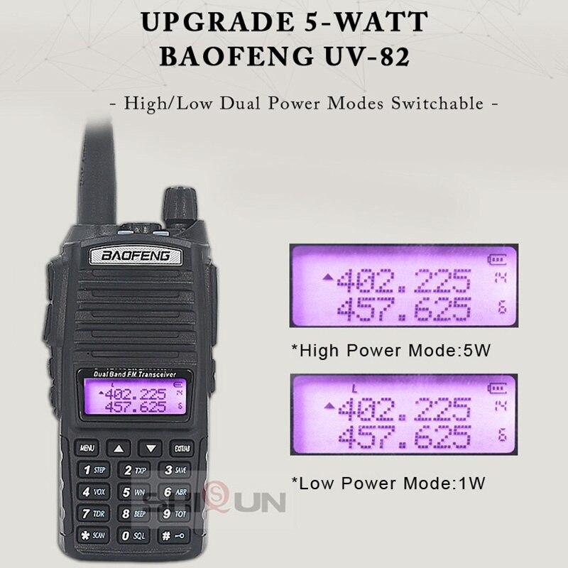 2pcs UV-82 8W Walkie Talkie Optional 5W Baofeng Radio UV82 Dual PTT Two Way Radio Dual Band UHF VHF Radio 10 KM Baofeng UV-82 HP enlarge